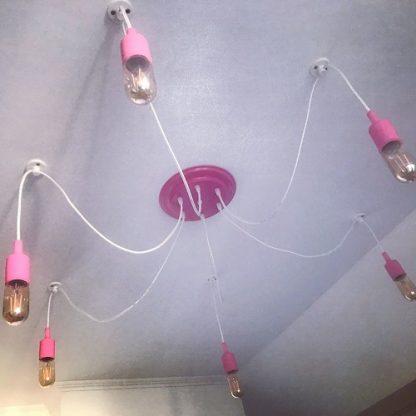 лампа паук лофт