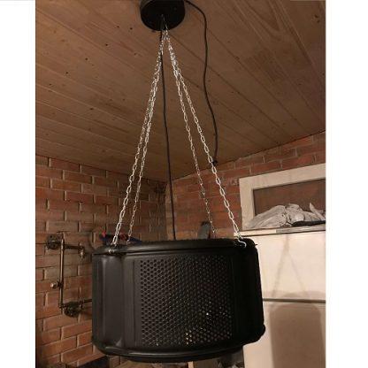 Светильник из барабана стиральной машины в стиле лофт