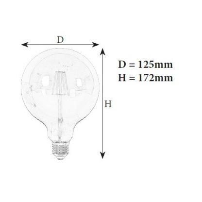 лампочка филаментная G125