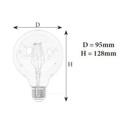 светодиодная лампа G95