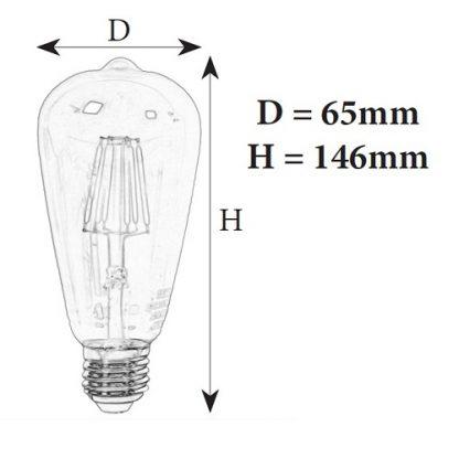 Светодиодная лампочка ST64